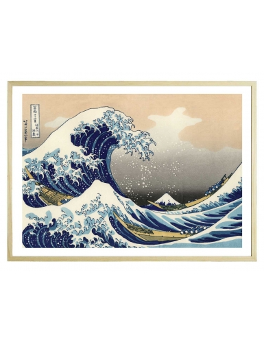 La vague de Kanagawa 70 x 50 cm