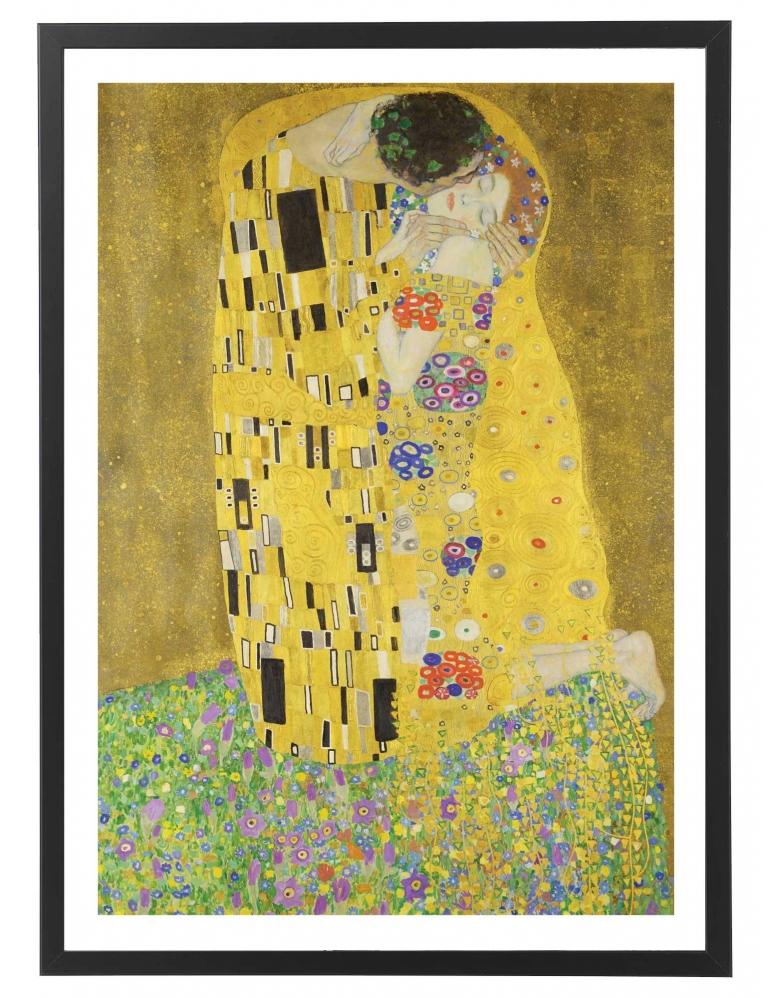 """Tableau reproduction peinture - Gustave Klimt """"Le baiser"""" 50x70 cm"""